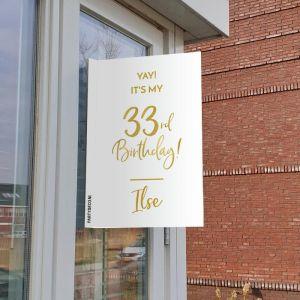 Raambord verjaardag birthday goud leeftijd