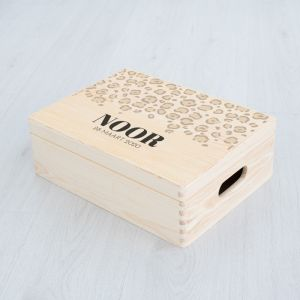 Memorybox baby panterprint beige