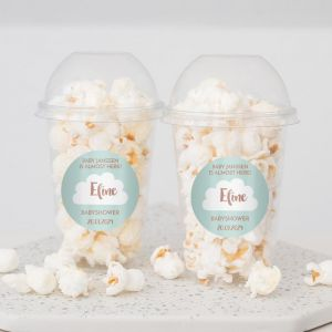 Hello world babyshower ready to pop popcorn beker