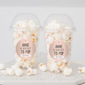 Ready to pop babyshower popcorn beker meisje