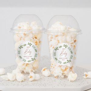 Babyshower bedankje popcorn botanical baby