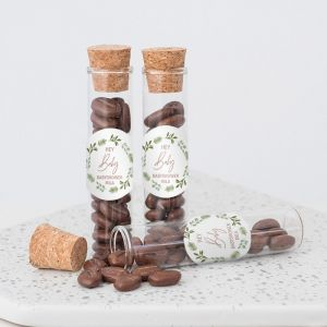 Babyshower bedankje little sweets buisje botanical baby