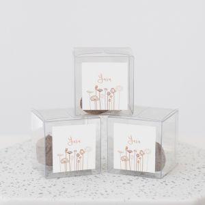 Geboortebedankje doosje met zaadbommen lotus