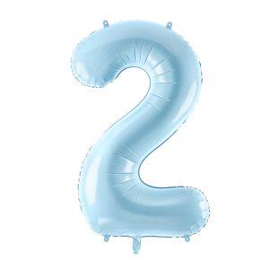 86cm Folieballon Pastel Blauw 2