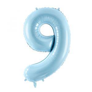 86cm Folieballon Pastel Blauw 9