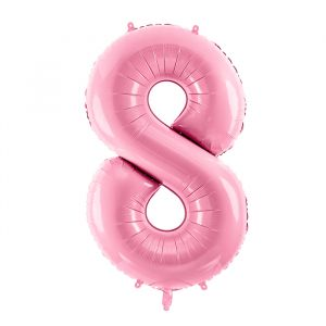 86cm Folieballon Pastel Roze 8