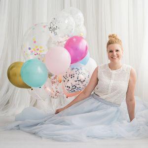 Ballonnen fuchsia (10st) Perfect Basics House of Gia