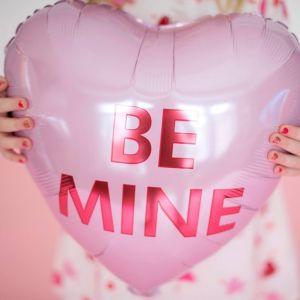 Folieballon hart Be Mine (43cm)