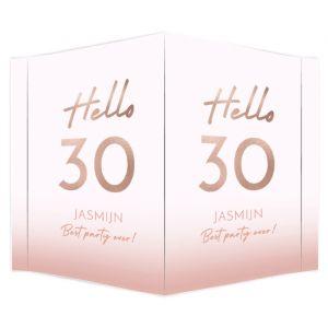 Raambord verjaardag hello 30
