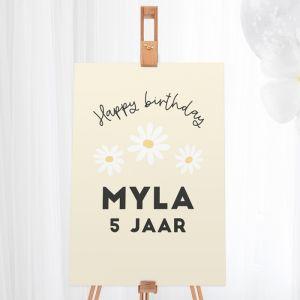 Welkomstbord verjaardag daisy