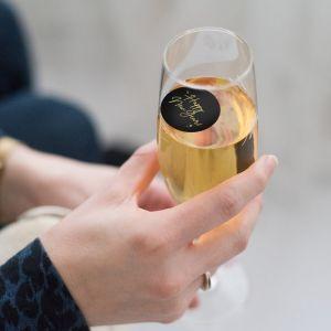Champagnemuntje Happy New Year zwart-goud