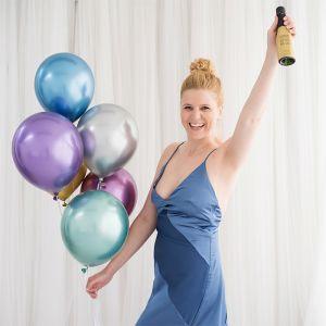 Chroom ballonnen mauve (10st) House of Gia