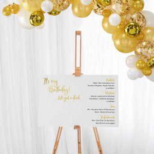 Cocktailbord verjaardag birthday goud collectie