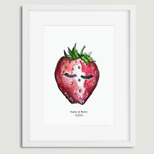 mevrouw aardbei illustratie Sophie de Ruiter