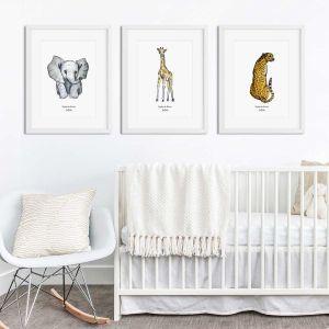Aquarel poster giraf illustratie door Sophie de Ruiter