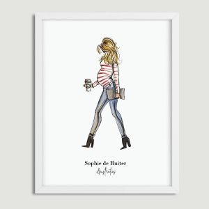 Standaard illustratie zwangerschap blond Sophie de Ruiter