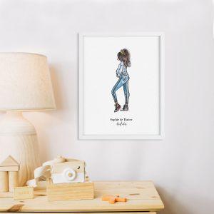 Standaard illustratie zwangerschap brunette Sophie de Ruiter