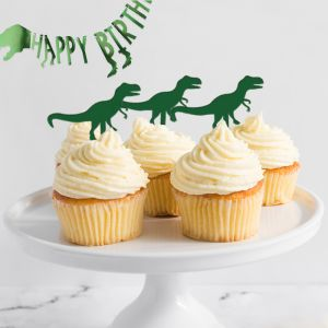 Cupcake prikkers (6st)dinosaurus roarsome