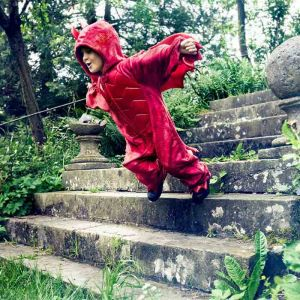 Draken jumpsuit rood 5-6jr (110-116cm) Souza
