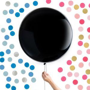 Gender Reveal Mega Ballon met confetti