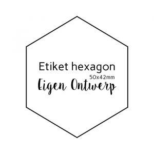Etiket Hexagon eigen ontwerp