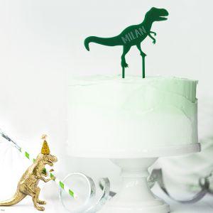 Gepersonaliseerde taarttopper dinosaurus roarsome