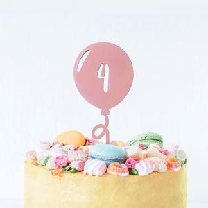 Gepersonaliseerde taarttopper ballon met cijfer