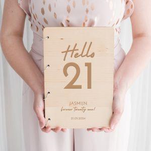Gastenboek verjaardag hello 21