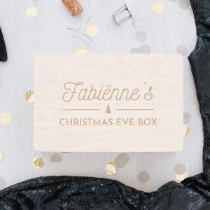 Houten christmas eve box gepersonaliseerd