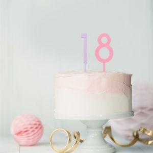 Acryl taarttoppers cijfers (0-9) set roze (20 stuks)