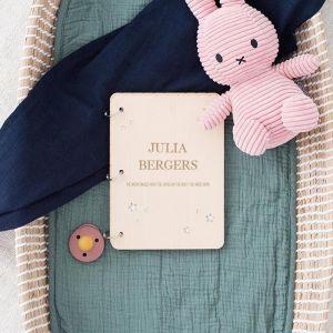 Gepersonaliseerd babyboek klassiek met sterren