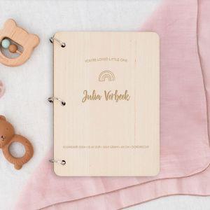 Gepersonaliseerd babyboek hip met icoontje