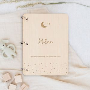 Gepersonaliseerd babyboek maan