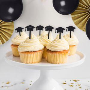 Cupcake prikkers (6st) geslaagd hoedje