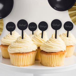 Cupcake prikkers (6st) geslaagd