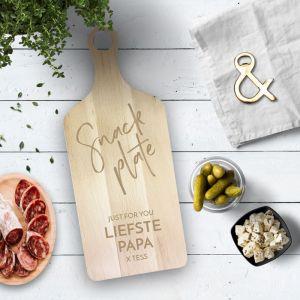 Houten serveerplank snack plate gepersonaliseerd pd