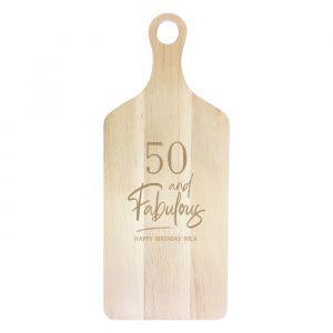 Houten serveerplank 50 and fabulous