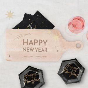 Houten serverplank kerst Happy New Year