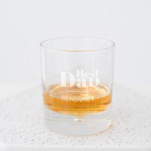 Whiskeyglas Best Dad met naam