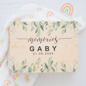 Memorybox baby botanical forest