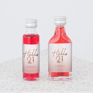 Mini flesje verjaardag hello 21