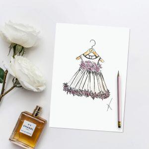 Persoonlijke illustratie bruidskleding Sophie de Ruiter