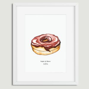 Aquarel illustratie donut door Sophie de Ruiter