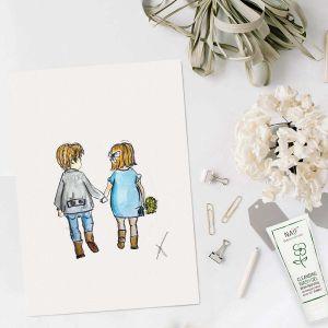 Happy family illustratie door Sophie de Ruiter