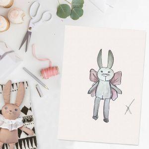 Persoonlijke illustratie lievelingsknuffeltje door Sophie de Ruiter