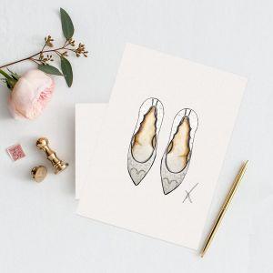 Persoonlijke illustratie trouwschoenen door Sophie de Ruiter
