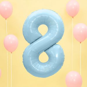86cm Folieballon Pastel Blauw 8