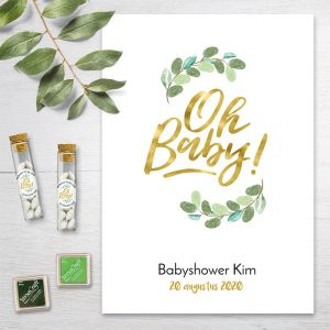 Oh baby! Vingerafdruk gastenboek babyshower
