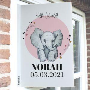 Geboortebord olifant