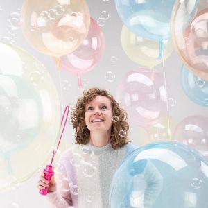 Orbz folieballon Clearz Crystal geel (40cm)